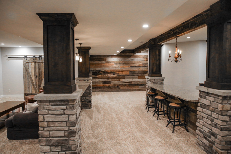 Basement Remodeling Malek Construction General Contractors Gorgeous Basement Remodel