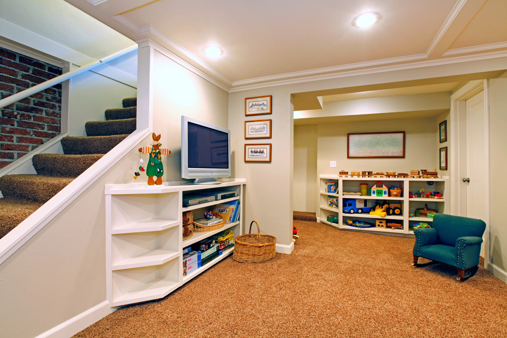 Basement ideas for kids area Kid Friendly Malek Construction Crafty Cool And Crazy Ideas For Finished Basement For Kids