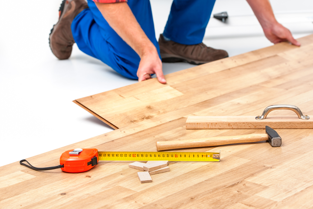 installation of hardwood floors